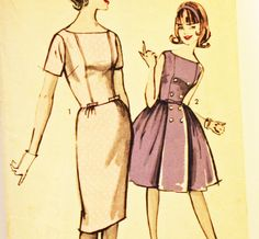 Vintage 1960s Sewing Pattern Advance 2913 Sew-Easy 2913