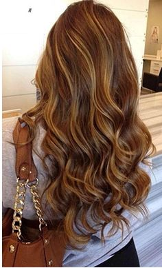 Nice color - Carmel highlights mocha brown - not too cool.