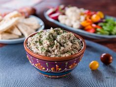 "Nadia's ""Salata de Vinete"" Eggplant Salad Spread recipe from Trisha's Southern Kitchen via Food Network"