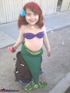 little girl's mermaid costume DIY | The Little Mermaid - Homemade costumes for girls