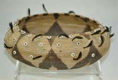 Vintage Feathered Pomo Native American Indian Basket.