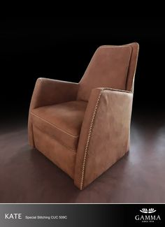 Kate chair. Occasional chair by #GAMMA. #ItalianLeather