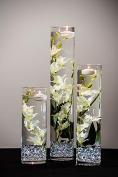 This Submersible White Star Flower Floral Wedding Centerpiece with Floating Candles and Acrylic Crystals Kit is just one of the custom, handmade pieces you'll find in our centerpieces shops. Silk Flower Centerpieces, Floating Candle Centerpieces, Simple Wedding Centerpieces, Wedding Table Centerpieces, Wedding Decorations, Quinceanera Centerpieces, Graduation Centerpiece, Hanging Candles, Cheap Centerpiece Ideas