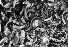 Bergen Belsen, Germany, Postwar, False teeth and teeth made of gold, taken from the corpses of victims.