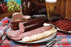 Sliced Garlic Summer Sausage Along With Other Ehlenbach Favorites #Meat