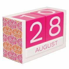 Jonathan Adler Block Calendar, Circle Ornaments - free shipping | The Organizing Store
