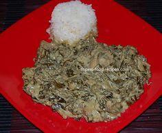 Laing, a Bicolano dish, taro leaves with coconut milk. Sub kale.