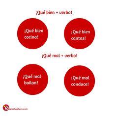 ¡Qué bien..! y ¡Qué mal..! #learn #Spanish