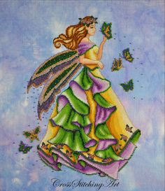 Lanae, The Summer Fairy cross stitch pattern by Cross Stitching Art http://crossstitchingart.com/lanae-summer-fairy.html
