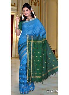 "Save 10% on Buying Salwar Kameez and Lehengas Promo Code ""CSNOV14"" : Exp:Dec-3, 2014.More information http://www.chennaistore.com/sarees/Kanchipuram-Silk-Sarees-Traditional-Wedding/blue-kanchipuram-silk-trendy-saree-9027-9027_9027"