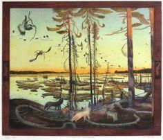 "TOM UTTECH, NIND ANDAKI, Etching, 20 x 21 1/2"""