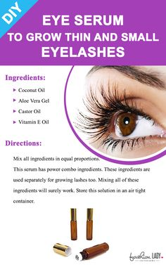 DIY Eye Serum To Grow Thin And Small Eyelashes Here is a natural solution to grow your eyelashes. There are lots of girls out there trying to make their lashes look fuller by using extension. This is not at all practical on a daily basis. Beauty Care, Beauty Skin, Beauty Hacks Every Girl Should Know, Diy Beauty Hacks, Beauty Ideas, Diy Hacks, How To Grow Eyelashes, Thicker Eyelashes, Castor Oil Eyelashes