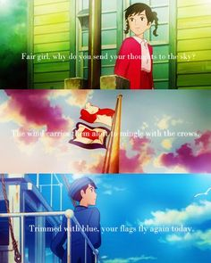 A romantic and beautiful movie by hayao miyazaki! From up on poppy hill is great! :)
