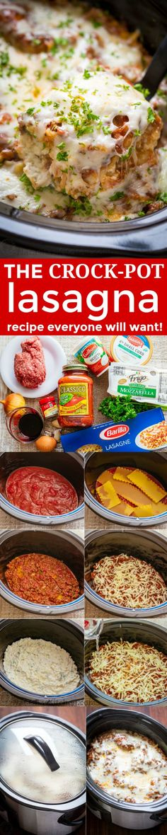You'll make this slow cooker lasagna again and again! So saucy and cheesy! An easy make-ahead crockpot lasagna - the noodles cook right in the crockpot!   http://natashaskitchen.com