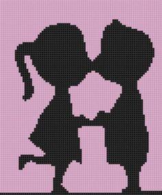 Young Love Cross Stitch Pattern