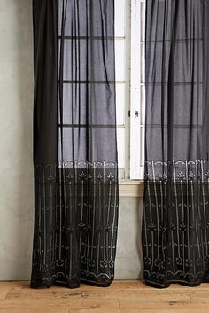 Anthropologie Emile Striped Curtain