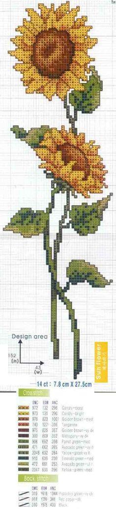 Sunflower Bookmark Chart