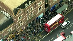 London's tube strike from the air    Aerial footage shows heavy traffic and large queues for buses during Monday morning rush hour in London as commuters try to get to work despite a 24-hour tube strike.   http://www.bbc.co.uk/news/uk-38552768