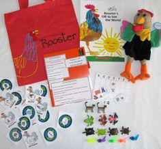 Rooster's Off to See the World literacy bag