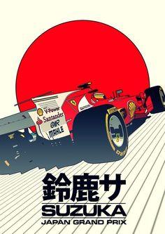 F1 Wallpaper Hd, Car Wallpapers, Japan Grand Prix, Ex Machina, Car Illustration, Car Posters, Car Drawings, Vintage Racing, Art Cars
