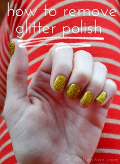 The trick to removing glitter nail polish