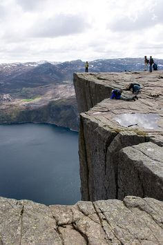 Preikestolen, Pulpit Rock by L.C.Nøttaasen