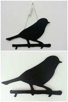 Krijtbord in de vorm van een vogel. Inclusief krijtje.   Afm. 40 x 26 cm € 5,00  www.facebook.com/stoeruhzaken.nl
