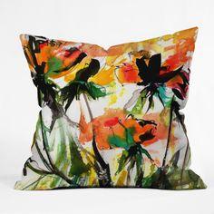 @DENYDesigns | Ginette Fine Art Modern #Peach #Roses #ThrowPillow Ginette Fine Art Modern Peach Roses Throw Pillow | DENY Designs Home Accessories