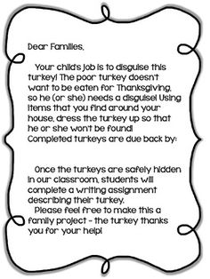 Get started with the turkey disguise project crafts pinterest disguise a turkey project freebie teacherspayteachers maxwellsz