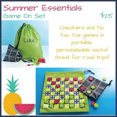 This is one of my favorite Summer Essentials Thirty One product! I love this for going to the beach, at the park or even going to visit people! Take your pick of checkers or tic tac toe all in the same carry bag so nothing gets lost!   trendybags.net ..... Social Media Links at: https://linktr.ee/craftycountry31cook