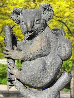 Koala Statue | Koala and Joey Statue.