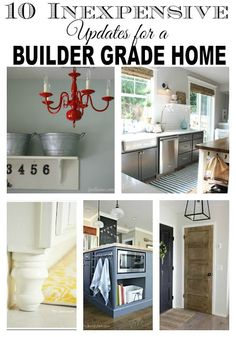 WOW!!!  Completely transform your builder grade home with these 10 easy ideas!