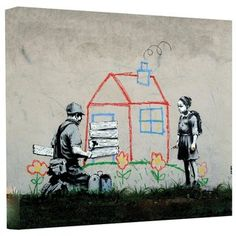 @Overstock - Artist: Banksy  Title: House  Product type: Gallery-wrapped canvashttp://www.overstock.com/Home-Garden/Art-Wall-Banksy-House-Gallery-wrapped-Canvas/7708577/product.html?CID=214117 $49.99
