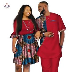 Image of African Men and Women Ankara print couple dress, african clothes for boyfriend,girlfriend wedding Dress and men suit o-neck men two piece set dashiki short sleeve cloth plus Couples African Outfits, African Clothing For Men, Couple Outfits, African Attire, African Wear, African Clothes, African Style, African Print Dresses, African Fashion Dresses