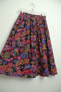Vintage 80s/90s South Western Colorful Floral by LipstickDinosaur, $24.00
