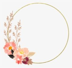 Line Flower, Flower Circle, Png Transparent, Watercolor Flower, Image Types, Hd Images, Clip Art, Wreaths, Pure Products