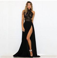 a9242c9f813 Večerní šaty Mylah - černé - Pošta Zdarma Letní Šaty