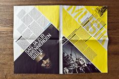 JKF Festival for youth culture – Newspaper by Andreas Hidber, via Behance