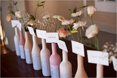 seating chart ideas... Full wine bottles instead, duh