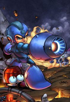 Megaman Tribute Piece by zaratus.deviantart.com on @deviantART