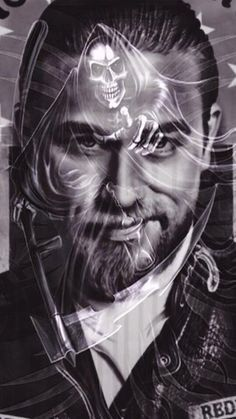 Image result for detailed line drawings sons of anarchy