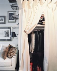 Closet Rod design ideas and photos to inspire your next home decor project or remodel. Check out Closet Rod photo galleries full of ideas for your home, apartment or office. Home Organization Hacks, Closet Organization, Storage Hacks, Jewelry Organization, Storage Solutions, Storage Ideas, New York Studio Apartment, Apartment Living, Living Room