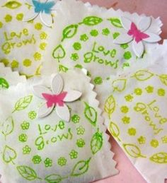 flower seed wedding favors - Google Search
