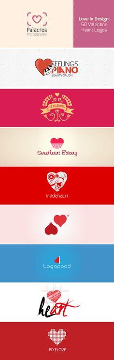 Love in Design: 50 Valentine Heart Logos http://crazypixels.net/love-in-design-50-valentine-heart-logos/ #love, #logo, #valentine,