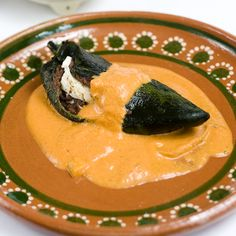 Mexican-Bean and Cheese Chile Relleno