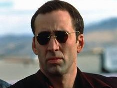 Nicolas Cage in Face Off Nicholas Cage Face, Nicolas Cage, Many Men, Face Off, Moustaches, Actors & Actresses, Core, Funny Pictures, Mens Sunglasses