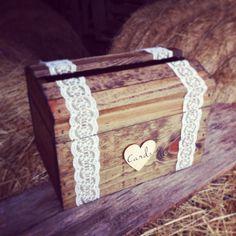 Rustic Wedding Card Box Wood Card Box by DownInTheBoondocks, $45.00