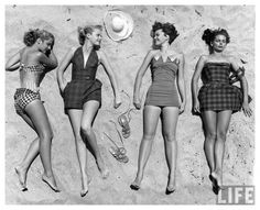 """""""At the Beach"""" with Nina Leen.Nina Leen was one of the first female photographers for Life magazine. This is one of her beautiful series' featuring women at the beach. These photographs are beautiful and simple in nature."""