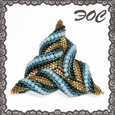 Треугольник -Сердце Кракена- | biser.info - всё о бисере и бисерном творчестве   -   Triangle -Serdce Krakena- | biser.info - All about pearls and pearl creation