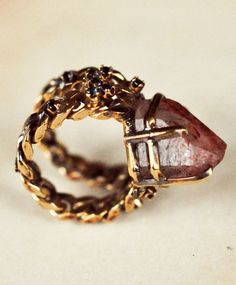 Fire and Sapphires Phynix Ring   i'll be having dreams about this ring now.
